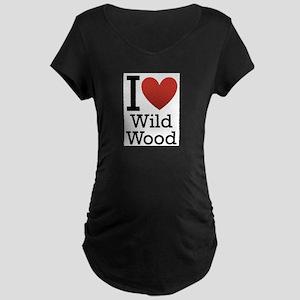 wildwood rectangle Maternity Dark T-Shirt