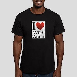wildwood rectangle Men's Fitted T-Shirt (dark)