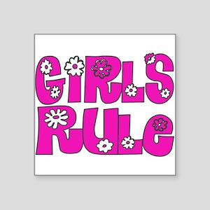 ...Girls Rule... Rectangle Sticker