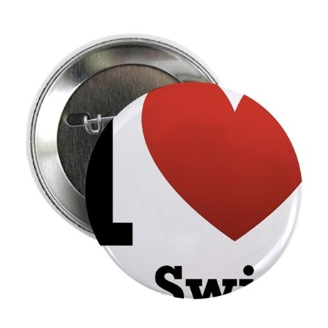 """I love to swim 2.25"""" Button (10 pack)"""