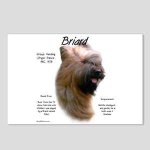 Briard (tawny) Postcards (Package of 8)