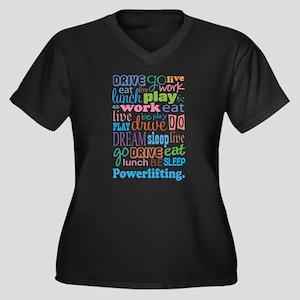Powerlifting Women's Plus Size V-Neck Dark T-Shirt