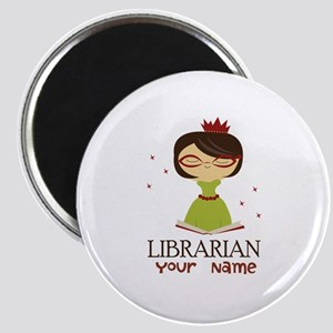 Personalized Library Lady Magnet
