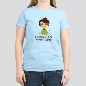 Personalized Library Lady Women's Light T-Shirt