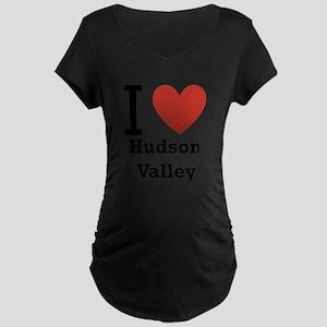 i-love-hudson-valley.png Maternity Dark T-Shirt
