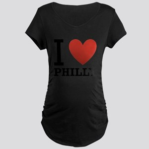 i-love-philly Maternity Dark T-Shirt