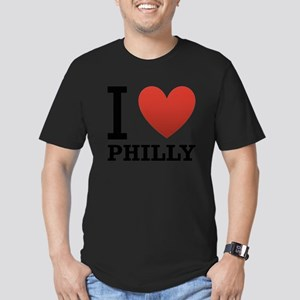 i-love-philly Men's Fitted T-Shirt (dark)