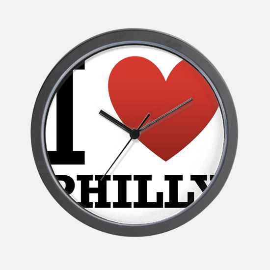 i-love-philly.png Wall Clock