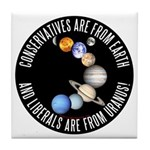 Conservative vs Liberal Tile Coaster