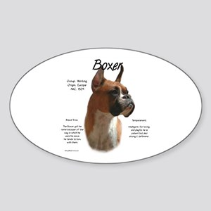 Boxer (fawn) Sticker (Oval)
