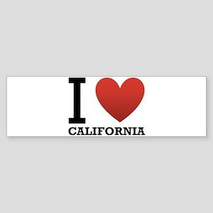 i-love-california Sticker (Bumper)