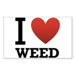 i-love-weed Sticker (Rectangle 10 pk)