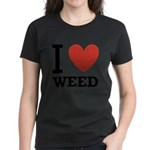 i-love-weed Women's Dark T-Shirt