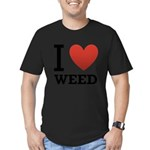 i-love-weed Men's Fitted T-Shirt (dark)