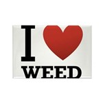 i-love-weed Rectangle Magnet (10 pack)