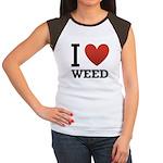 i-love-weed Women's Cap Sleeve T-Shirt