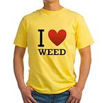 i-love-weed Yellow T-Shirt