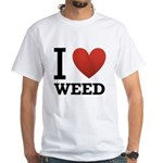 i-love-weed White T-Shirt