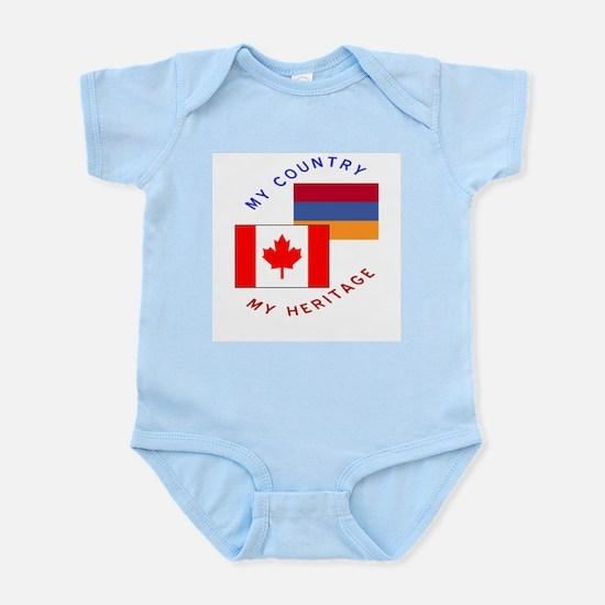 Armenia Canada Flag Heritage Infant Bodysuit