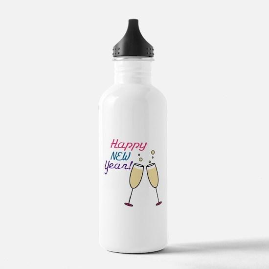 Happy New Year Water Bottle
