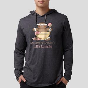 little sweetie grandma  pa Mens Hooded Shirt