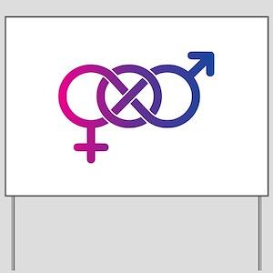 Bi Pride Multicolor Logo Yard Sign