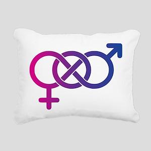 Bi Pride Multicolor Logo Rectangular Canvas Pillow