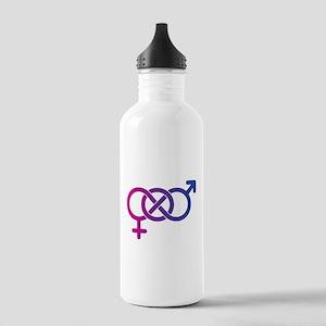Bi Pride Multicolor Logo Stainless Water Bottle 1.