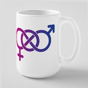 Bi Pride Multicolor Logo Large Mug