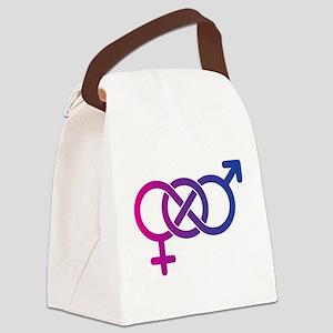 Bi Pride Multicolor Logo Canvas Lunch Bag