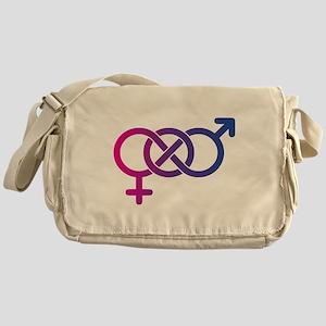 Bi Pride Multicolor Logo Messenger Bag