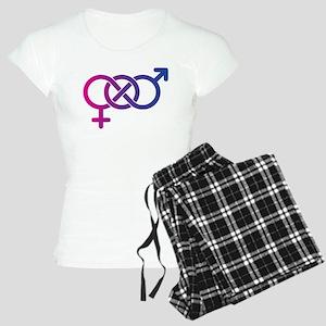Bi Pride Multicolor Logo Women's Light Pajamas