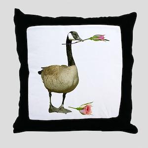 Canada Goose Rose Throw Pillow