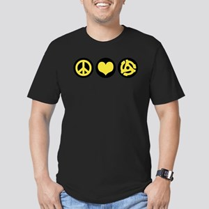 Peace Love 45 Men's Fitted T-Shirt (dark)