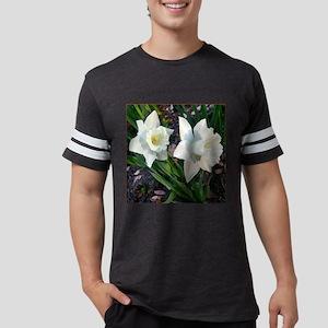 Daffodils2WhiteClose10x10burnt Mens Football Shirt