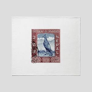 1959 Nepal Himalayan Pheasant Postage Stamp Stadi