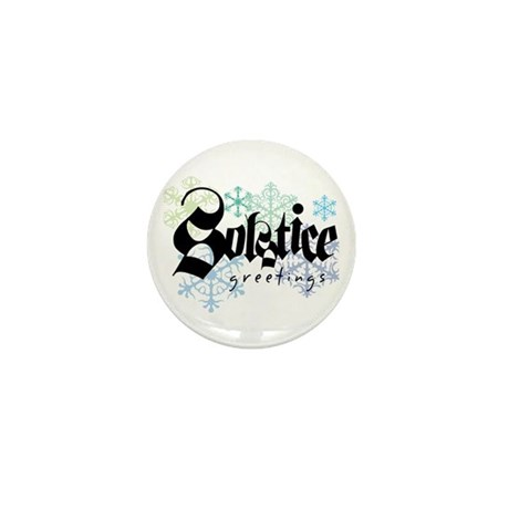 Solstice Greetings Mini Button