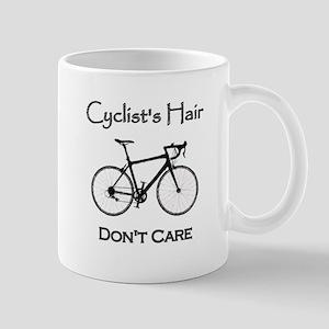 Cyclist Hair Don't Care Mugs