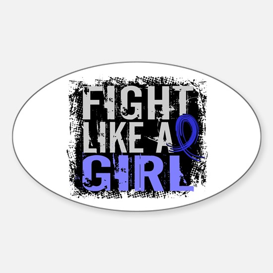 Licensed Fight Like a Girl 31.8 RA Sticker (Oval)
