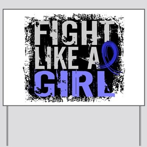 Licensed Fight Like a Girl 31.8 RA Yard Sign