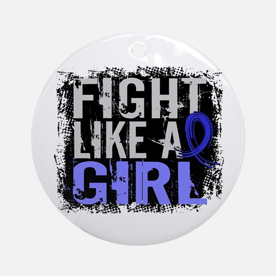 Licensed Fight Like a Girl 31.8 R Ornament (Round)