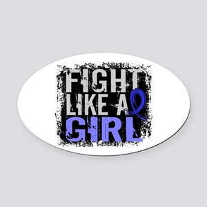 Licensed Fight Like a Girl 31.8 RA Oval Car Magnet