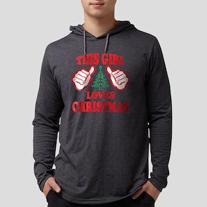 THIS GIRL LOVES CHRISTMAS Mens Hooded Shirt