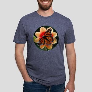 Large round monarch Mens Tri-blend T-Shirt