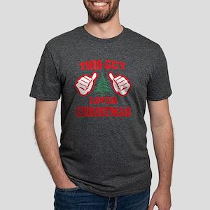 THIS GUY LOVES CHRISTMAS Mens Tri-blend T-Shirt