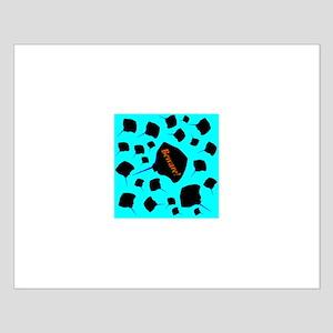 School of Stingrays Batt Reef Small Poster