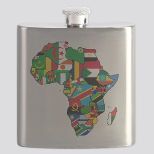 Flag Map of Africa Flask