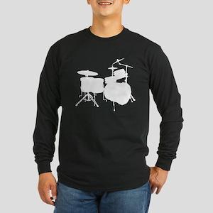 Cool Drum Kit Long Sleeve Dark T-Shirt