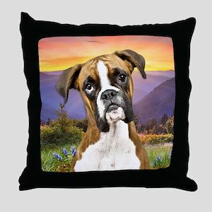 Boxer Meadow Throw Pillow