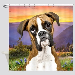 Boxer Meadow Shower Curtain